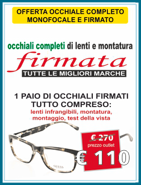 offerta 110, 110 euro, occhiali 110